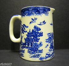 1/4 Pint Cream  Jug Willow Pattern By Heron Cross Pottery England