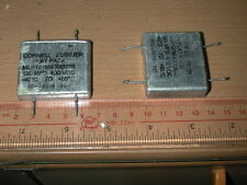2 X Cornell Dubilier Flat Pack 120uF 400V Electrolytic Capacitor