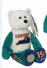 KENTUCKY State Quarter Plush Coin Bear by Limited Treasures Beanie NWT