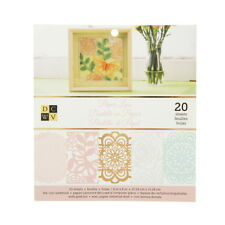 """American Crafts DCWV 6"""" x 6"""" Paper Lace Cardstock Stack - 4 Assorted Designs, Sc"""
