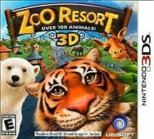Zoo Resort 3D (Nintendo 3DS, 2011) NEW