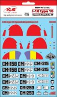 ICM D3202 - 1:32 - Decal for I-16 type 10 Spanish Republic AF