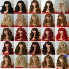 Fashion Women Long Hair Full Wig Natural Curly Wavy Synthetic Hair Wigs - M