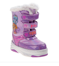 Paw Patrol Toddler Girls' Winter Snow Boots Nickeloden Size 10T