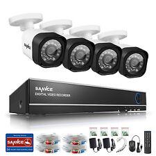 SANNCE 4CH 1080N TVI DVR 720P Night Vision Security Cameras Kit Home Remote HDMI