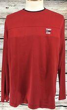 VTG Tommy Hilfiger Henley Pullover LS Shirt Red Size Large Tommy Jeans