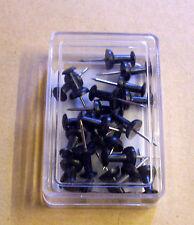 Pinnadeln Pinnwandnadeln Stecker 20 Stück schwarz black Büroartikel Neu OVP