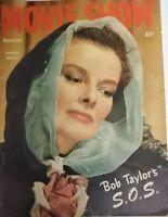 Movie Show Vintage Magazine September 1947 Featured Cover Katherine Hepburn