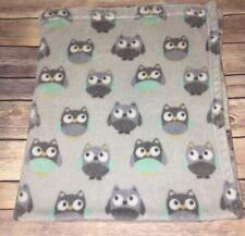 NEW Garanimals Baby Owl Blanket Fleece Lovey Gray Gender Neutral Soft