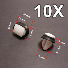 10X Side Moulding Rub Bumpstrip Lower Door Trim Clips for Peugeot, Fiat, Citroen