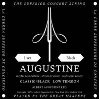 Jeux de Cordes BLACK SETS pour Guitare Classique Grave Legere AUGUSTINE