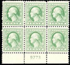 525, Mint H VF/XF 1¢ Scarce Plate Block of Six --- Stuart Katz