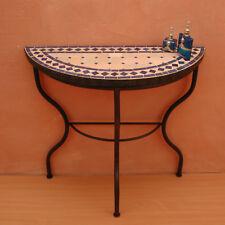 table en mosaïque mosaïque console table console du Maroc Table de mur oriental