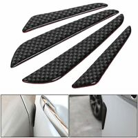 4x Carbon Fiber Car Door Edge Guard Strip Scratch Protector Anti-collision Trim