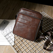 Men's Vintage Genuine Cow Leather Brown Shoulder Messenger Bag Satchel Bags