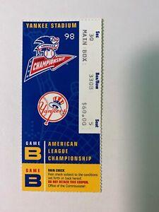 1998 AL Championship Series GM #B NY Yankees vs Cleveland Indians Ticket Stub