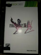 Final Fantasy XIII-2 (Microsoft Xbox 360, 2012) Disc and manual only