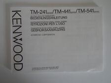 Kenwood TM-241/TM-441/TM541 (Solo Manual Original)... radio _ trader _ Irlanda.