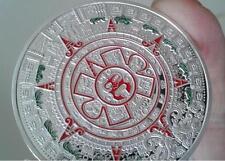 美国 1盎司 纯铜镀银币 玛雅日历 阿兹特克 Silver Plated Coin 1 Oz