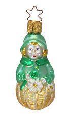 Inge Glas Owc 1040 Garden Girl German Glass Christmas Ornament