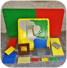 Lego Duplo >> BAUPLATTEN - SET << mit Spezial-Platten 3D +Auffahrt +Gitterplatte
