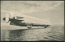 """ZEPPELIN: Real Photo PC """"Zeppelins Luftschiff Landung auf dem Wasser"""" fresh Un.."""
