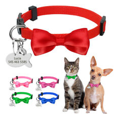 Personalized Cat Collar Breakaway Cute Bow Tie Necklace Free Bell and Name Tag