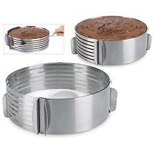 Anello taglia torta INOX a strati regolabile da 26 a 28cm diametro