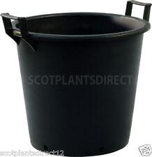 5 x 50 Litre Heavy Duty Black Plastic Plant Pot With Handles Trees 50ltr (e975)