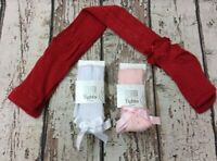 Pex Spanish Cotton Soft Cameo Ribbon Bow Tights, with Heart and Diamante Detail