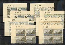 Faroe Is Sc 7-20(Mi 7-20)*Vf Nh 1975 Regional Set, Plate Blocks $200