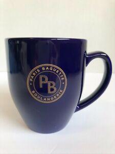 Paris Baguette Cobalt Blue Coffee Tea Cup Mug, 14 ozs. Excellent condition!