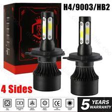 4-Sides CREE H4 9003 5000W 850000LM LED Headlight Kit High Low Beam Bulbs 6000K