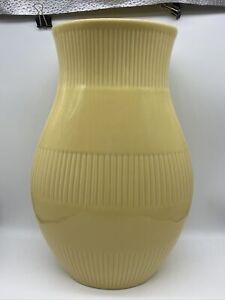 St Michael Marks and Spencer M&S Pastel Yellow Decorative Vase Striped
