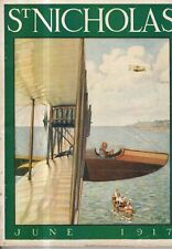 1917 St. Nicholas June - Aviation; Wellesley; Fairies; Sarah Stilwell; Scouting