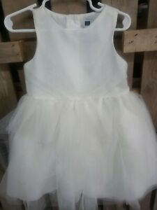 Janie and Jack, DRESS SIZE 2, White/Beige/Silver, Party Holiday Special Occasion