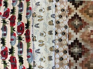 New Brown/Tan Flannel Fabric Belly Bands Male Dog Carol's Crate Covers