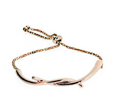 Rose Gold Twist Bangle Adjustable Bracelet