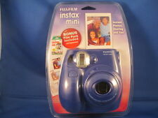 FUJIFILM INSTAX MINI-7s - NAVY BLUE CAMERA -NEW SEALED -- BONUS FILM PACK