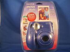 FUJIFILM INSTAX MINI-7s - NAVY BLUE CAMERA -NEW SEALED -- BONUS FILM PACK