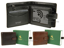Visconti Mens Leather Wallet For Cards, Notes With RFID Fraud Protection - TSC42