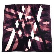 "Mantero VIII Collection Silk Scarf Pink Purple Eggplant Lights Hashtag 34"" x 33"""