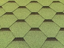 Dachschindeln Hexagonal Dreieck Form 12 m? Grün (4 Pakete) Schindeln Dachpappe