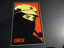 """SHEPARD FAIREY Obey Giant Sticker 3.75X6"""" COMANDANTE 4 MARCOS from poster print"""