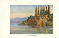 Stampa antica PUNTA SAN VIGILIO Lago di Garda Verona 1932 Old antique print