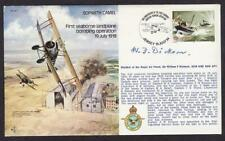 SIGNED LD ED COVER WW1 HMS FURIOUS PILOT MARSHAL OF RAF WILLIAM DICKSON DSO AFC