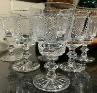 "6 Waterford Crystal 5 1/4"" Hibernia Claret Wine Glasses Ireland - Excellent"