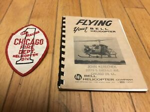 1966 Flying your Bell Helicopter Booklet Manual + CFD Air Rescue Patch