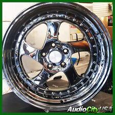 """18"""" ESR SR02 wheel """"  5-114.3 black chrome fit NSX  Accord CR-V S2000"""