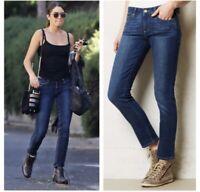 Paige Women's Blue Skyline Ankle Peg Skinny Fit Jeans Size 28